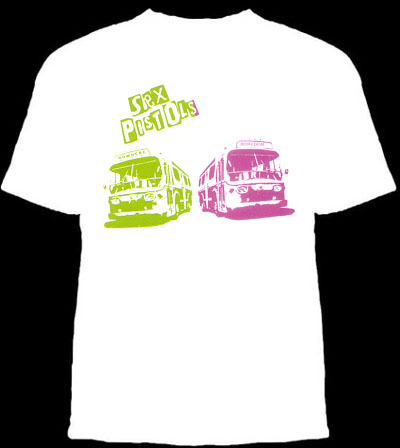 Sex Pistols- Buses on a white shirt (Sale price!)