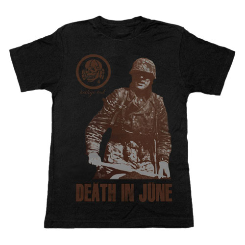 Death In June- Heilige Tod on a black girls fitted shirt by Lethal Amounts