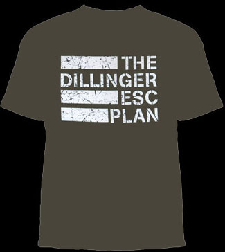 Dillinger Escape Plan- Logo on an army green YOUTH SIZED shirt (Sale price!)