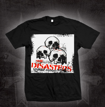 Roger Miret And The Disasters- Street Punk on a black shirt (Sale price!)