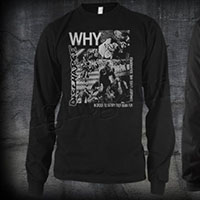 Discharge- Why on front, Face on back on a black LONG SLEEVE shirt