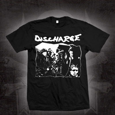 Discharge- Live Pic (Full Band) on a black shirt (Sale price!)