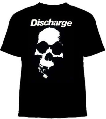 Discharge- Skull on a black shirt (Sale price!)