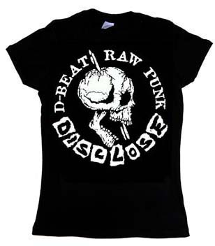 Disclose- D-Beat Raw Punk on a black girls fitted shirt