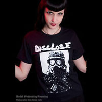 Disclose- Gas Mask on a black shirt