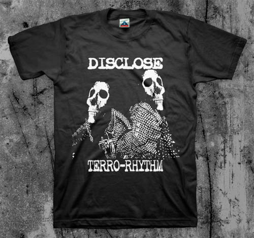 Disclose- Terro-Rhythm on a black shirt