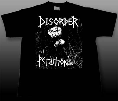 Disorder- Perdition on a black shirt