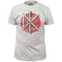 Dead Kennedys- Distressed DK on an off white ringspun cotton shirt