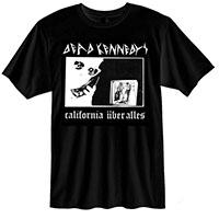 Dead Kennedys- California Uber Alles on a black ringspun cotton shirt