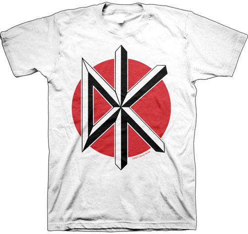 Dead Kennedys- DK on a white shirt
