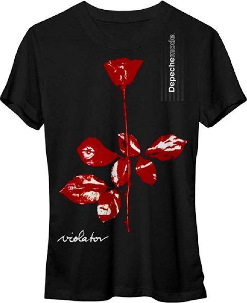 Depeche Mode- Violator on a black girls fitted shirt