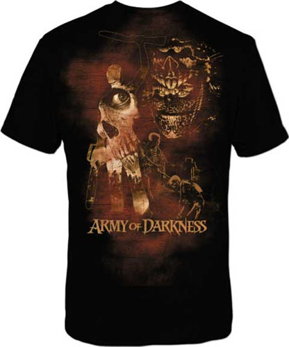 Army Of Darkness- Collage on a black shirt (Sale price!)