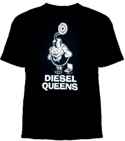 Diesel Queens- Bomb on a black YOUTH SIZED shirt (Sale price!)