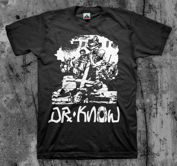 Dr Know- Killing Pigs on a black shirt
