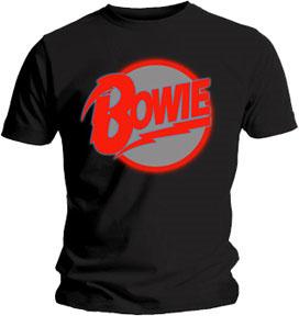 David Bowie- Diamond Dogs Logo on a black shirt