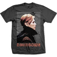 David Bowie- Low on a charcoal shirt