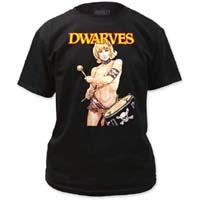 Dwarves- Drummer Girl on a black shirt