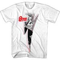 David Bowie- Pic Inside Bolt on a white ringspun cotton shirt (Sale price!)