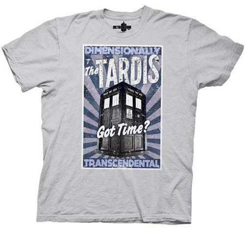 Doctor Who- The Tardis on a grey shirt (Sale price!)