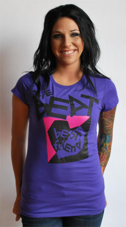 English Beat- Best Friend on a purple girls fitted shirt (Sale price!)