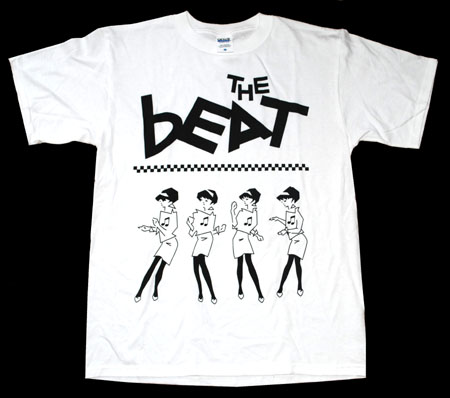 English Beat- Multi Beat Girls on a white shirt (Sale price!)