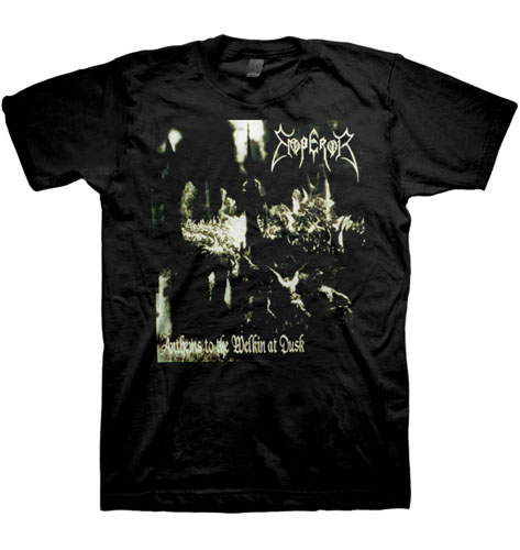 Emperor- Anthems To Welkin At Dusk (Smaller Logo) on a black shirt