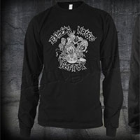 Extreme Noise Terror- Ronald McDonald on a black LONG SLEEVE shirt
