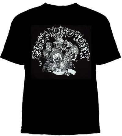 Extreme Noise Terror- Band Beating Ronald on a black YOUTH SIZED shirt (Sale price!)