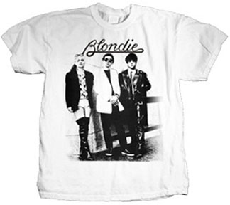 Blondie- Band Pic on a white ringspun cotton shirt (Sale price!)