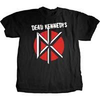 Dead Kennedys- DK & Stressed Logo on a black shirt