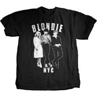 Blondie- NYC Band Pic on a black ringspun cotton shirt (Sale price!)