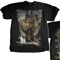 Cradle Of Filth- Titans on front & back on a black shirt (Sale price!)