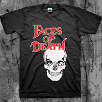 Faces Of Death- Skull on a black shirt