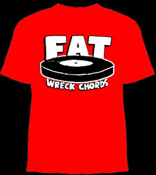 Fat Wreck Chords- Logo on a red ringspun cotton shirt