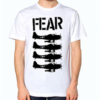 Fear- Beer Bombers on a white shirt