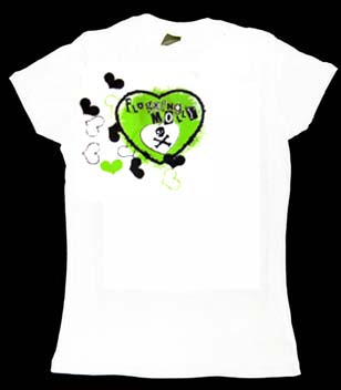 Flogging Molly- Hearts on a white girls fitted shirt (Sale price!)