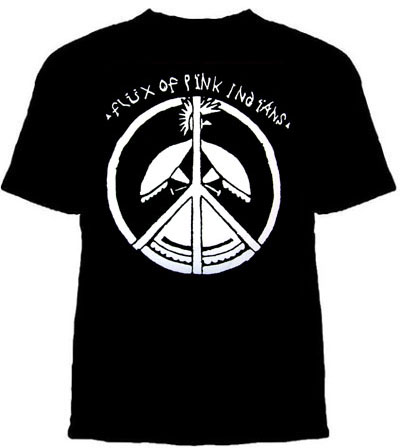 Flux Of Pink Indians- Bird Peace Sign on a black shirt