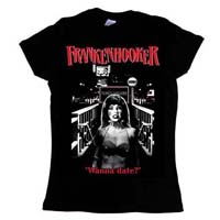 Frankenhooker- Wanna Date? on a black girls fitted shirt