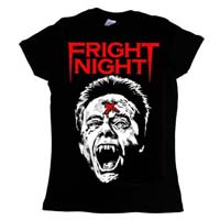 Fright Night- Evil Ed on a black girls fitted shirt