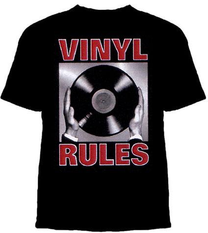 Vinyl Rules on a black shirt (Sale price!)