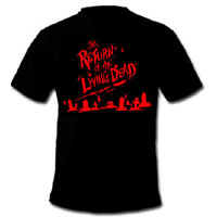 Return Of The Living Dead- Graves on front, I Can Smell Your BRAINS on back on a black shirt (Sale price!)