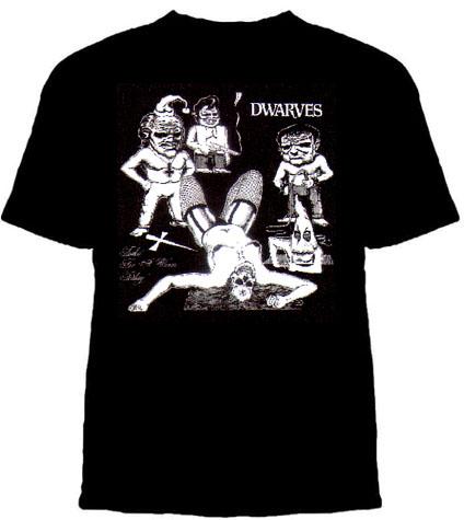 Dwarves- Toolin' For A Warm Teabag on a black shirt (Sale price!)