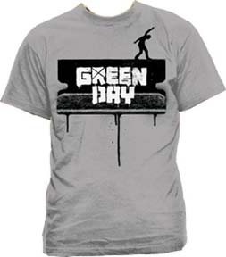 Green Day- Razor Walk on a grey shirt (Sale price!)