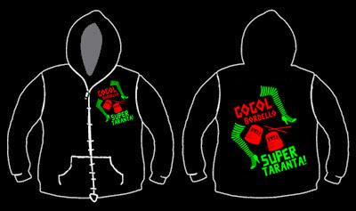 Gogol Bordello- Super Taranta on front and back on a black zip up hooded sweatshirt (Sale price!)