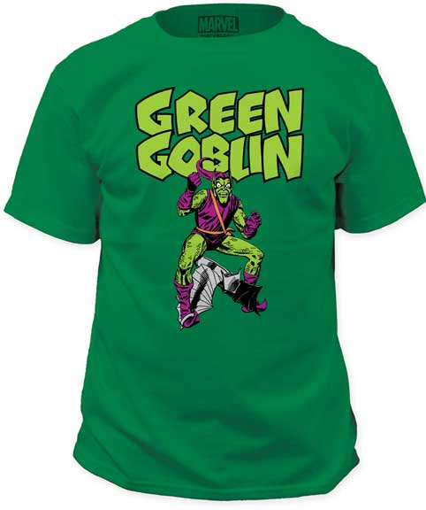 Marvel Comics- Green Goblin on a kelly green shirt (Sale price!)