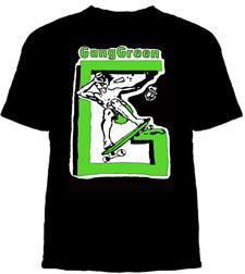 Gang Green- Skater on a black shirt