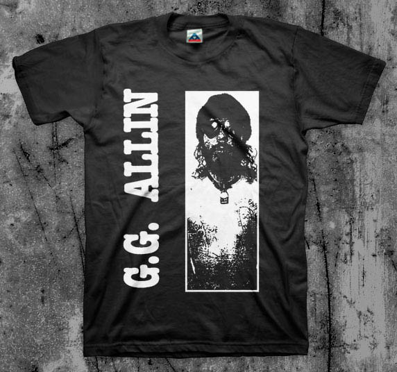 GG Allin- Picture on a black shirt