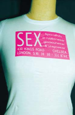 Sex (London Shop) on a white girls fitted shirt by Ghost Of 77 (Sale price!)