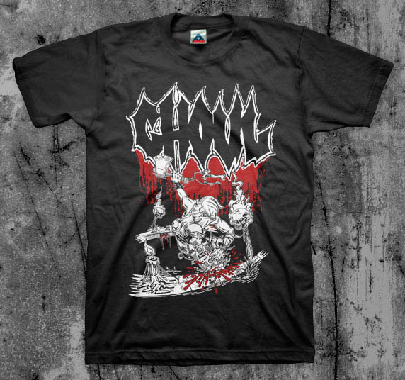 Ghoul- Pool Skate on a black shirt