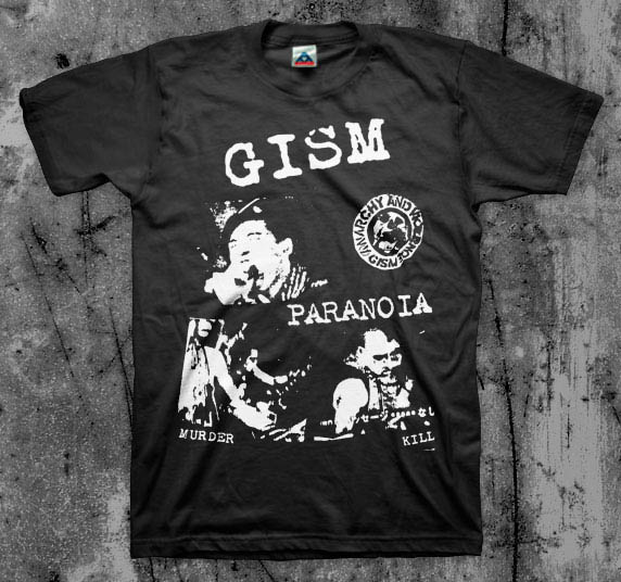 GISM- Paranoia on a black shirt